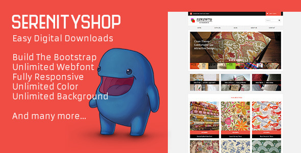 Serenityshop – EDD – Easy Digital Downloads Theme