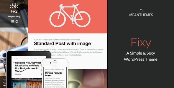 Fixy: A Simple & Sexy WordPress Theme