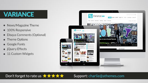Variance – Responsive Magazine/News WordPress Theme