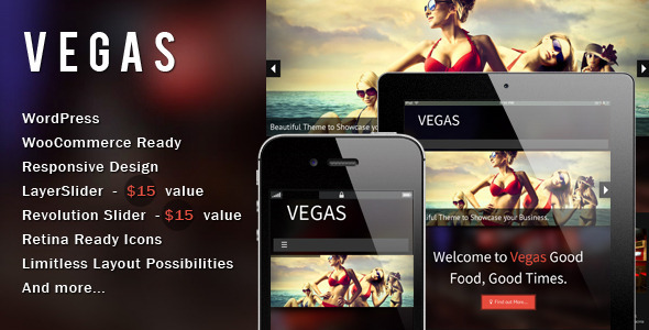 Vegas – Responsive WordPress Theme
