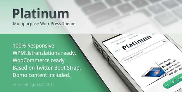 Platinum — Multipurpose Responsive WordPress Theme