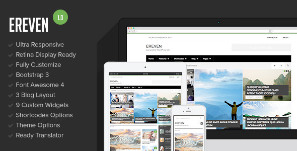 Ereven – Responsive Blog Magazine WordPress Theme