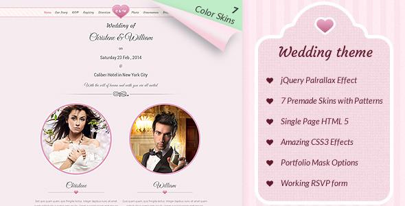 Wedding Event – Responsive Marriage Invite Theme