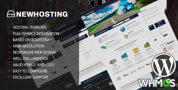 NewHosting – Responsive Hosting WordPress Theme