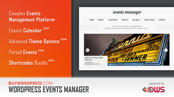 Eventful an Events Manager WordPress Theme