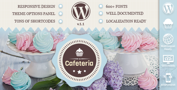 Cafeteria Responsive WordPress Theme