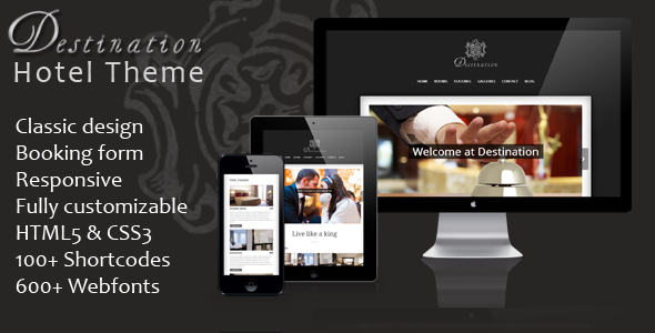 Destination – a classic responsive WordPress hotel theme