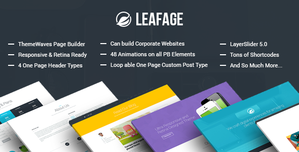 Leafage – One Page & Corporate Responsive Theme