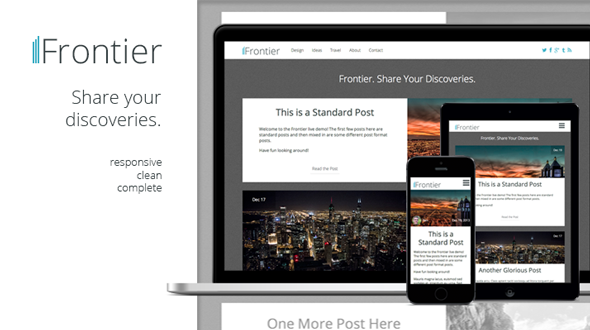 Frontier | Responsive Blog WordPress Theme