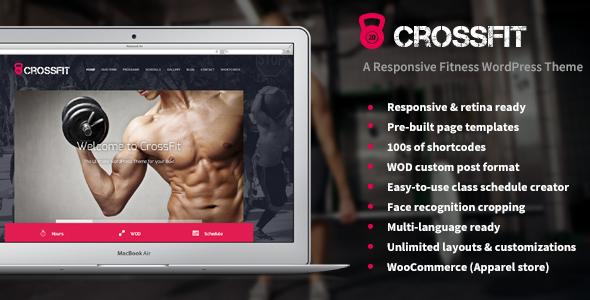 Crossfit – A Responsive WordPress Gym Theme