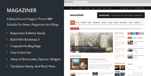 Magaziner – Responsive WP News, Magazine, Blog