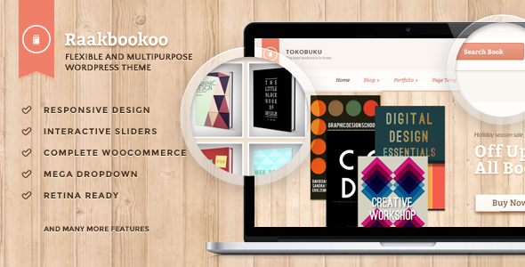 Raakbookoo – Woocommerce Theme For Book Store