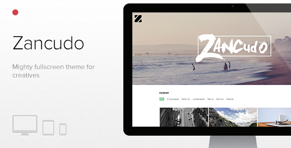 Zancudo – Mighty fullscreen theme for creatives