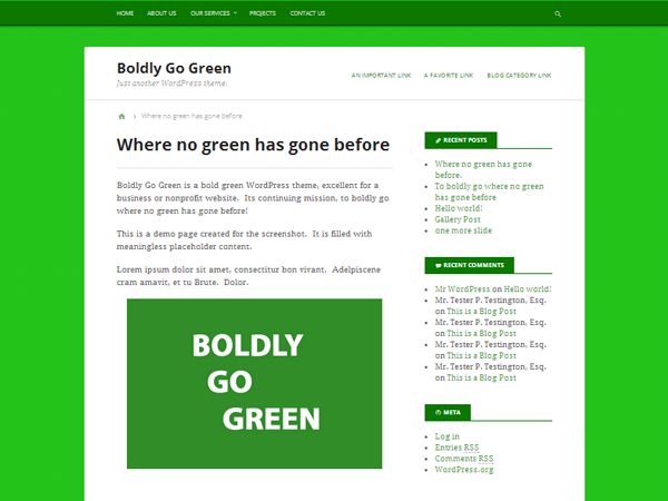 Boldly Go Green