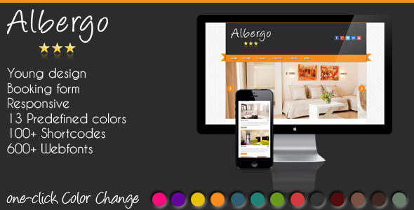 Albergo – a responsive WordPress hotel theme with booking system