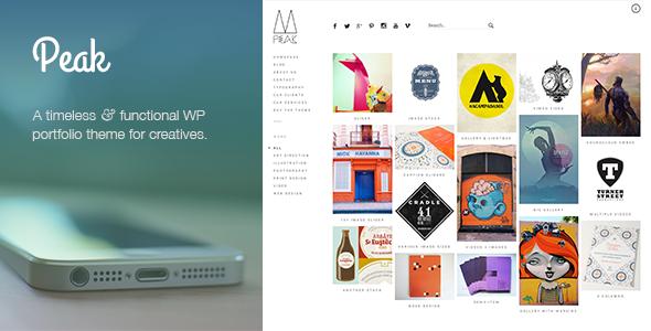 Peak: Retina Responsive WordPress Portfolio Theme