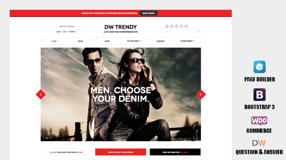 DW Trendy – Responsive eCommerce WordPress Theme