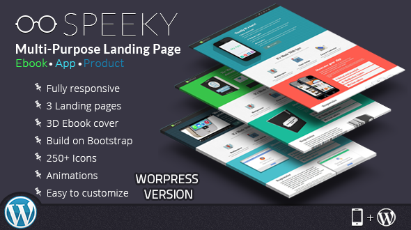 Speeky – Ebook App Product WordPress Landing Page