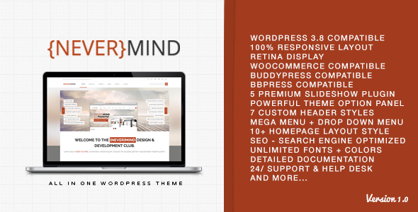 Nevermind – Multi Purpose WordPress Theme
