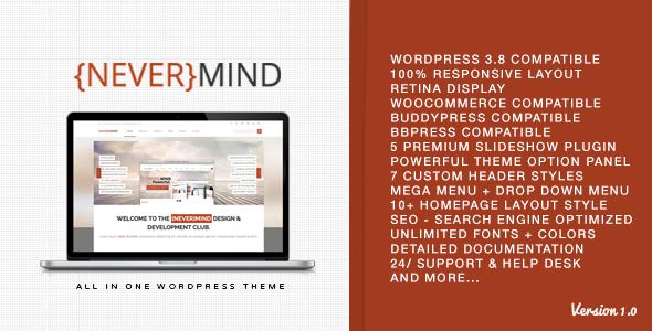 Nevermind – Multi Purpose WordPress Theme