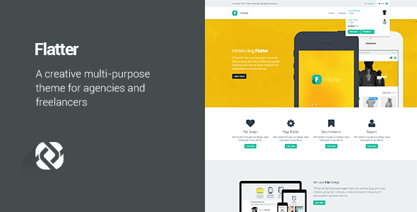 Flatter – Multi-Purpose Theme for Your Creativity