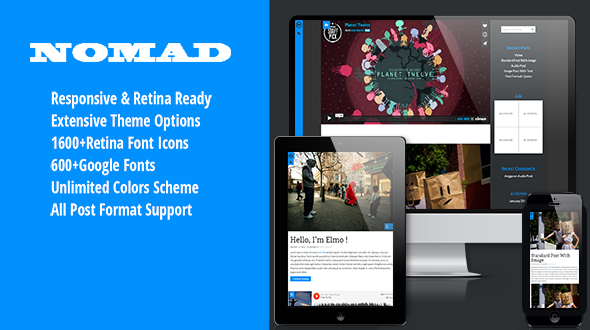 Nomad – Creative Portfolio & Blogging Themes