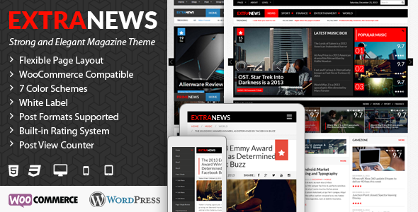ExtraNews – Responsive WP News/Magazine/Blog