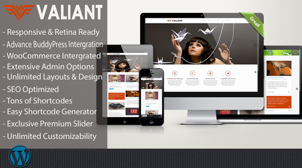 Valiant – Responsive Multi-Purpose Theme