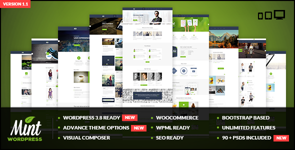 Mint – Responsive Multi-Purpose WordPress Theme