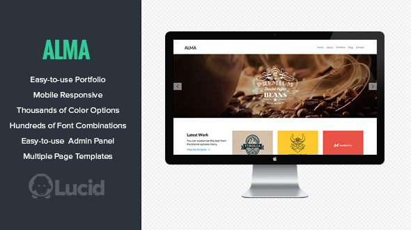 Alma – Responsive WordPress Portfolio Theme