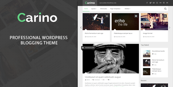 Carino – Retina Responsive WordPress Blog Theme