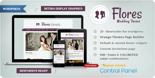 Flores – Elegant WordPress Wedding Theme