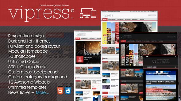 Vipress – Responsive Blog, Magazine & Video Theme