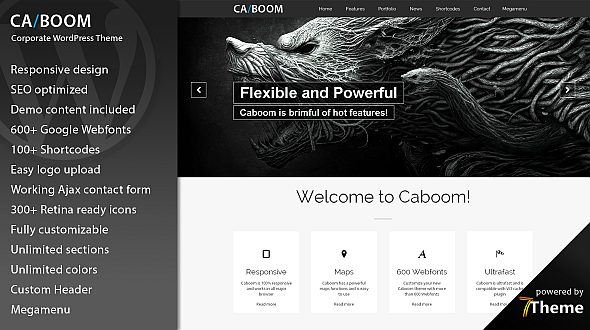 Caboom – Powerful Multipurpose WordPress Theme