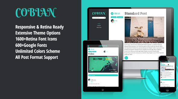 Cobian – Responsive Blogging Theme