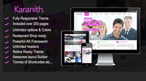 Karanith – Responsive Multipurpose WordPress Theme