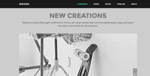 Sneaker – Responsive Portfolio WordPress Theme
