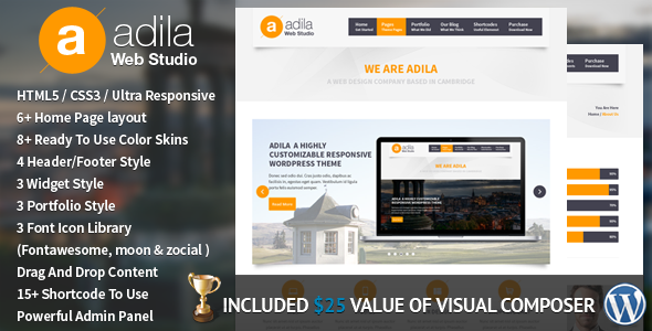Adila: Multipurpose Business WordPress Theme