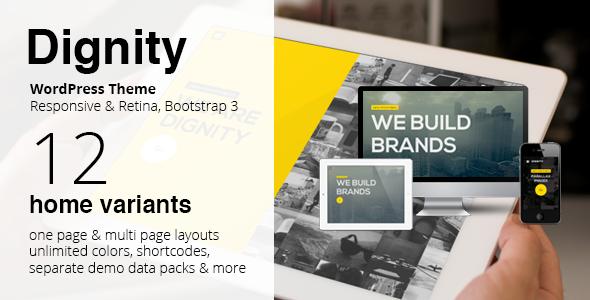 DIGNITY – WordPress One Page Responsive Portfolio