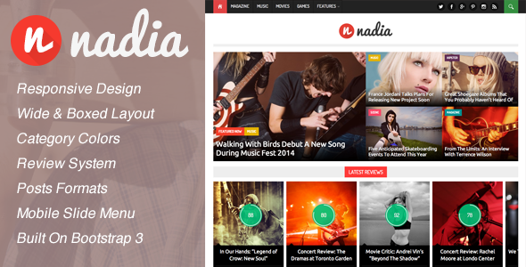 Nadia – Responsive WordPress News Theme