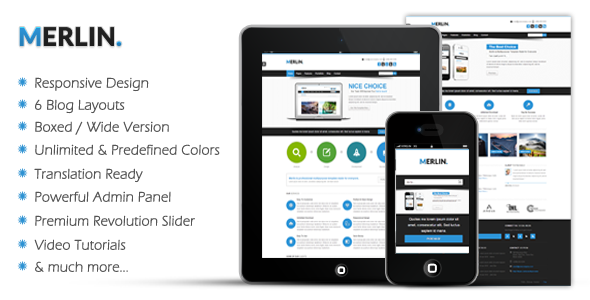 Merlin – Clean & Modern Multipurpose Theme