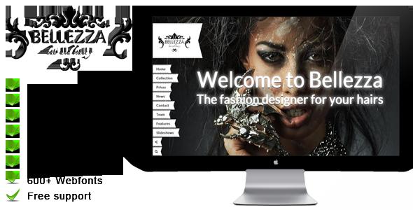 Bellezza – a hairdresser WordPress theme