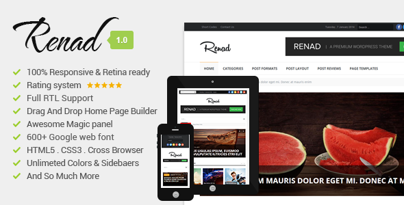 Renad – Clean & Modern WordPress Magazine Theme
