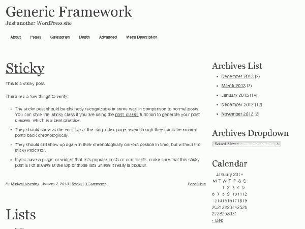 Generic Framework