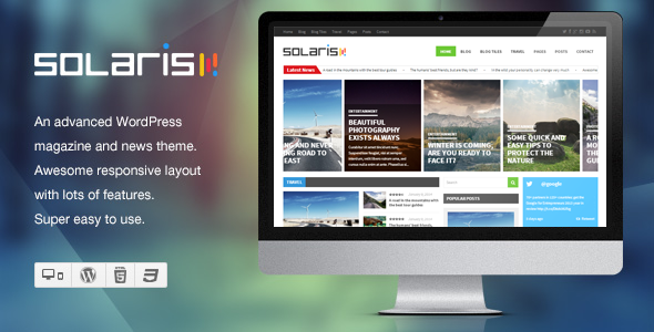 Solaris – Responsive WordPress Magazine Theme