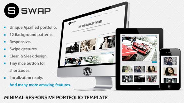 Swap – Minimal Responsive WP Portfolio Theme