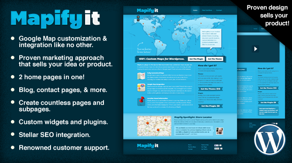 Mapify.it – A WordPress Theme to Promote Your Product or Idea