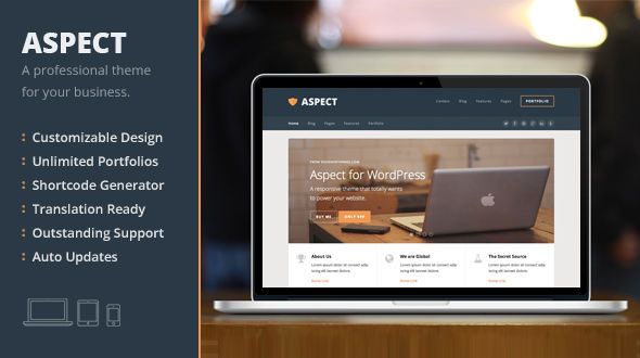 Aspect, a Responsive WordPress Theme