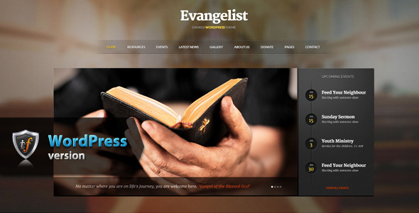 Evangelist – Church WordPress Theme