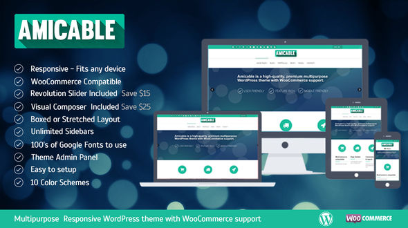 Amicable – Responsive Multi-Purpose WordPress Theme